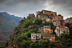 View of Corte, Corsica Stock Image