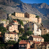 View of Corte, Corsica Stock Photo