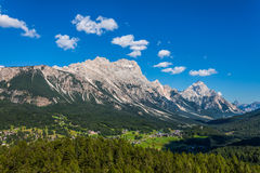 View of Cortina D'Ampezzo, Italy Royalty Free Stock Photos