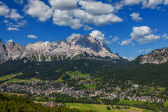 View of Cortina D'Ampezzo, Italy Royalty Free Stock Images