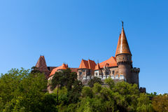 View of Corvin castle Stock Images
