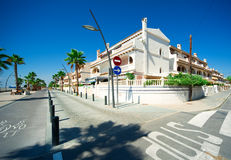 View of Costa Blanca street Stock Images