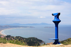 View of the Costa Brava near Begur, Spain Royalty Free Stock Photo