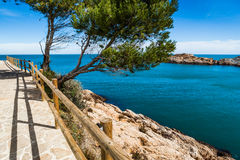 Costa Brava pathway Stock Photography