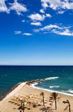 View of Costa Del Sol beach. Spain royalty free stock photos