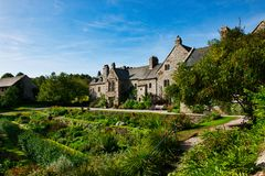 View of Cotehele House and garden