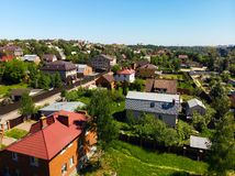 View of cottage village near Moscow from top, Russia. View of the cottage village near Moscow from the top, Russia Stock Photography