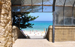 View of Cottesloe Beach: Indiana Tea House royalty free stock images