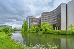 The Council of Europe. View on the Council of Europe. Strasbourg , France Stock Photography