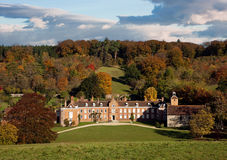 View of a country manor in autumn Royalty Free Stock Image