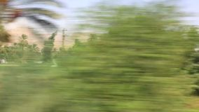 View of country side from train HD Video stock footage