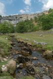 View of the countryside around Malham Cove in the Yorkshire Dale. S National Park Stock Photo