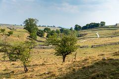 View of the countryside around Malham Cove in the Yorkshire Dale. S National Park Royalty Free Stock Photography
