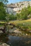 View of the countryside around Malham Cove in the Yorkshire Dale. S National Park Stock Photography