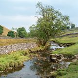 View of the countryside around Malham Cove in the Yorkshire Dale. S National Park Stock Photos