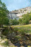 View of the countryside around Malham Cove in the Yorkshire Dale. S National Park Royalty Free Stock Images
