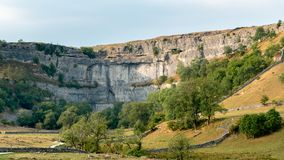 View of the countryside around Malham Cove in the Yorkshire Dale. S National Park Royalty Free Stock Photo