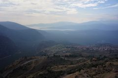 A view of the countryside around Meteora in Greece. Stock Photos