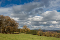 View of a countryside in the Belgium Ardennes. Stock Images
