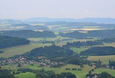 View of the countryside, Broumov area. Czech Republic Royalty Free Stock Images