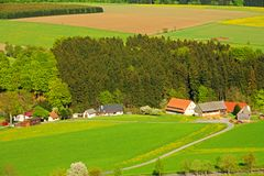 View of the countryside Stock Photos