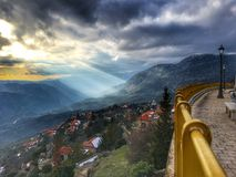 View from countryside in Greece Stock Images