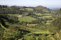 View of Countryside, Nueva, Austurias. Spain Stock Photography