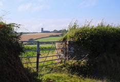 View of the countryside in summer Stock Images