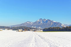 View on countryside in Switzerland in winter Stock Image