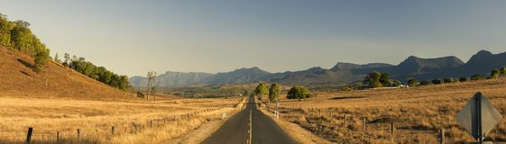 View of the countryside in Tarome, The Scenic Rim. Stock Photos