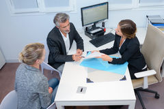 View couple in meeting with lady Royalty Free Stock Images