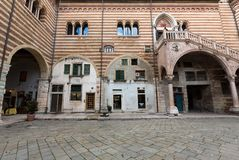 View of the Courtyard of the  Palazzo della Ragione in Verona. Italy Stock Photos
