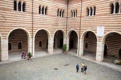 View of the Courtyard of the  Palazzo della Ragione in Verona. Stock Photos