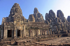 View of the courtyard in the temple of Bayon Stock Photos