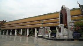 Wat Suthat temple in Bangkok stock video
