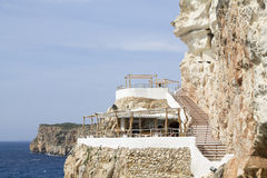 View of Cova d'en Xoroi, a lounge and nightclub in Minorca Stock Images
