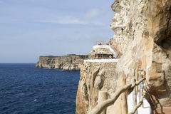 View of Cova d'en Xoroi, a lounge and nightclub in Minorca Stock Image
