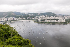View of the cove of Botafogo in Rio de Janeiro Stock Images