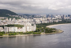 View of the cove of Botafogo in Rio de Janeiro Royalty Free Stock Image