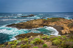 View of a cove at Point Lobos State Natural Reserve  Royalty Free Stock Photo