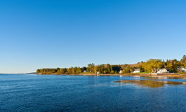 Shoreline of Searsport Maine Stock Images