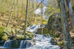 View of Crabtree Falls in the Blue Ridge Mountains of Virginia, USA Stock Photography