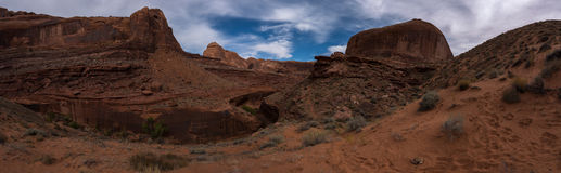 View from Crack in the Wall towards Stevens Arch and Escalante R Royalty Free Stock Image