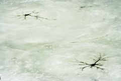 Cracked ice Stock Photography