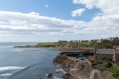 View of Crail village in Scotland stock photography