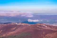 A view from Crainghorm mountain, Scottish highlands royalty free stock image