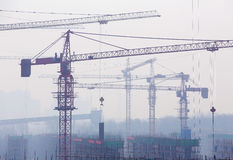 Crane in Construction Royalty Free Stock Image