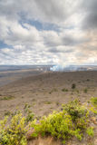 View of a crater on Big Island, Hawaii Royalty Free Stock Images
