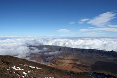 View on the crater of volcano Stock Image