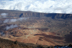 View on the crater of volcano Royalty Free Stock Photo